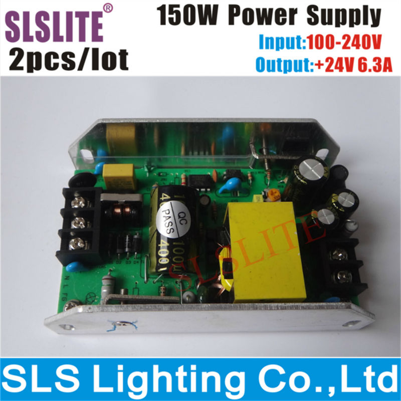2pcs/lot power supply 150w input 100~240v output 24v for 54pcs led par can Stage Disco DJ Party Lighting Accessories & Parts(China (Mainland))