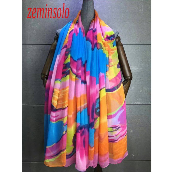Designer Hijab Scarf For Women Girls Autumn Winter Slik Scarf Shawl 140*180cm Imitation Chiffon Scarves Women Bandana Stole