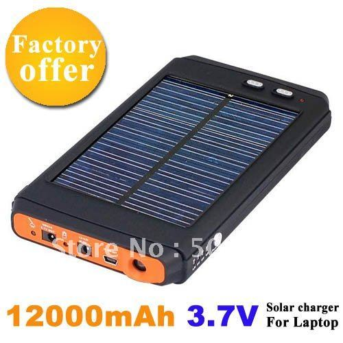 EMS Free Shipping 12000mAh Solar Energy Laptop Charger Universal Portable Solar Charger For Laptop Notebook Cell Phone 2PCS/LOT