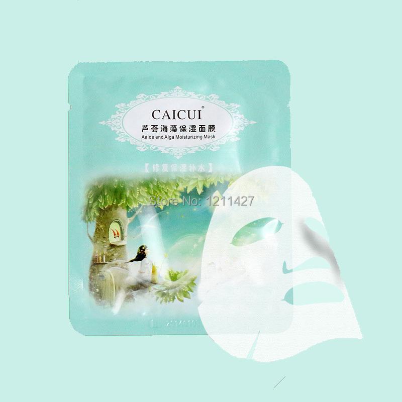 1pcs aloe vera, seaweeds Plant Collagen Crystal Face Mask,Anti-aging,Moisturizing, Whitening Face Mask Face Care Product(China (Mainland))