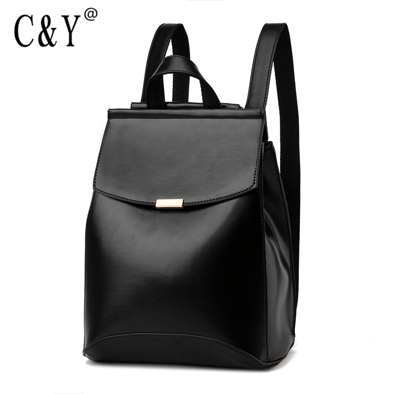 2016 Women Backpack High Quality Fashion Solid Color Soft PU Leather Backpack Shoulders Bag School Bags For Teenagers Girls V6<br><br>Aliexpress