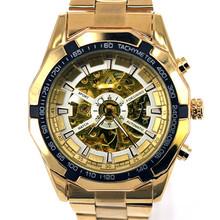 Mechanical Watch Automatic Wristwatch Stainless 2016 New Luxury Free Shipping Stylish Man Male Skeleton Relogio Masculino LZ323(China (Mainland))