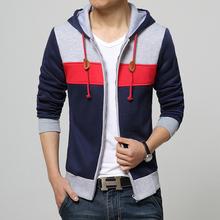 2015 New Sping Fashion Men's Fleece Hoodies Men Jacket Tracksuits High-quality Sport Suit Men Korean Slim Fit Men Sweatshirt(China (Mainland))