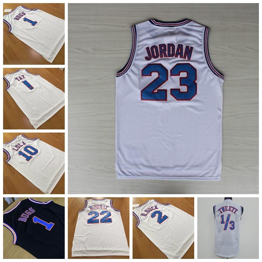 Space Jam 23 Michael Jordan,2 Duck,22 Murray,1 Bugs ,! TAZ ,1/3 Tweety Tune Squad Jersey Shorts LOONEY TOONES Basketball Jerseys(China (Mainland))