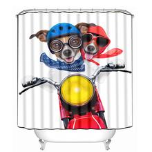 Fashion shower curtain with design dog riding electric bike(China (Mainland))