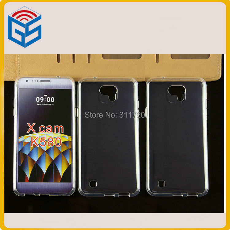 Latest Products Market Transparent Anti Watermark Gel TPU Case For LG X Cam K580(China (Mainland))