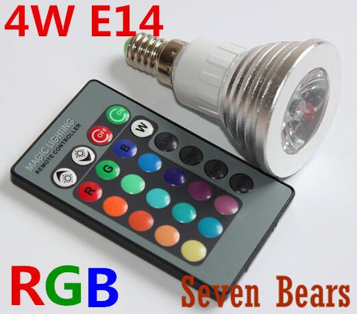 Гаджет  RGB LED lamps 16 Color Change bulb E14 3W Spotlight AC 85V 110V 220V 265V for Home Party Decoration light with IR Remote 1pcs None Свет и освещение