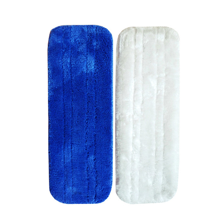 2 pc/lot high quality Microfiber Washable Wet/Dry Mop Pads, microfiber mop head for Velcro type flat mop replacement, mop heads(China (Mainland))