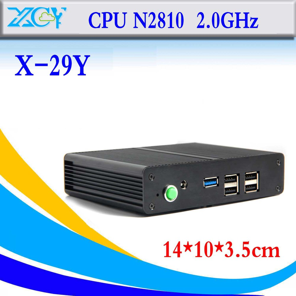 smallest celeron N2810 barebone computer micro industrial pc mini pc thin client terminal win7 win8 laptop computer(China (Mainland))