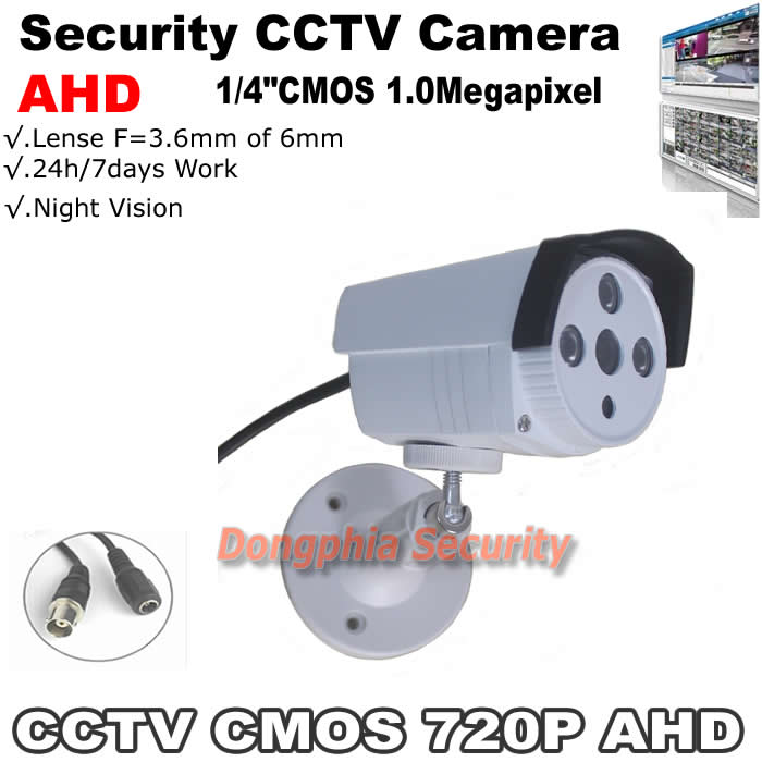 Здесь можно купить  Free shipping! Analog High Definition Surveillance ahd cctv camera 720p 1.0mp Bullet IR Security ABS Plastic Free shipping! Analog High Definition Surveillance ahd cctv camera 720p 1.0mp Bullet IR Security ABS Plastic Безопасность и защита