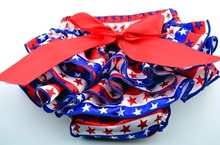 IN STOCK 4th of july Pretty Bow Infant Toddlers Girls Baby Ruffle Shorts star stripe red/blue Diaper Cover Newborn Baby bloomers(China (Mainland))