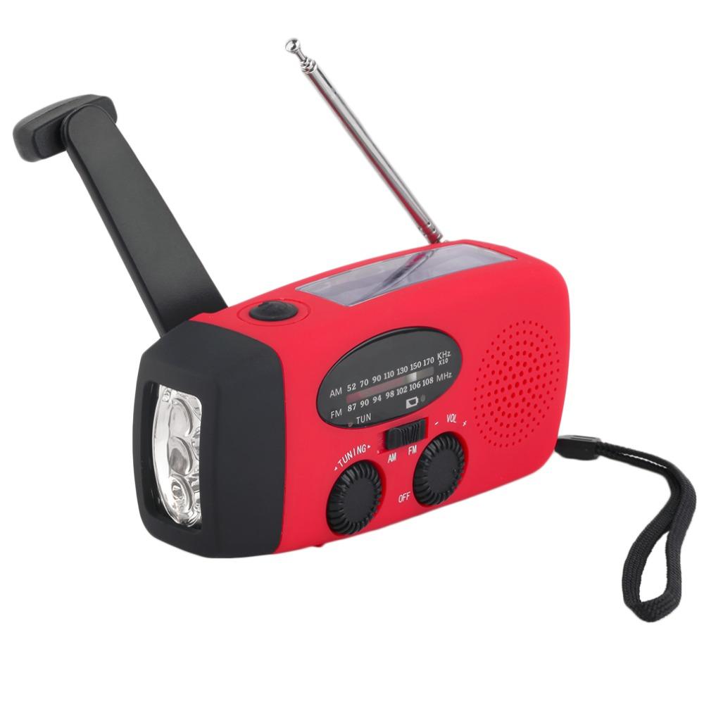 New Solar FM Radio Multifunctional Emergency Hand Crank Generator Flashlight Phone Charger 3 LED Lighting Lamp AM/FM/WB Radio(China (Mainland))