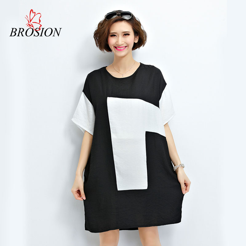 2016 Europe Summer Style Large Size Women Cotton And Linen T Shirt Dress Batwing Sleeve Women Printed Tees Female Loose Tops(China (Mainland))