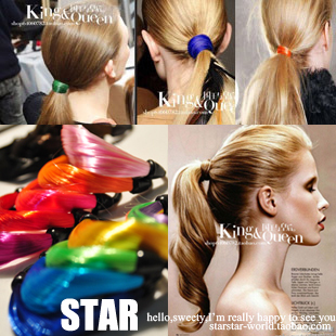 Promotion! Wholesale! Can mix colors ! Fashion lady women jewelry twisted neon color wig rubber band headband   SHR083