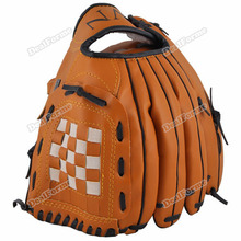 Onebyone Quickly! New Dark Brown Durable Men Softball Baseball Glove Sports Player Preferred New Sale(China (Mainland))
