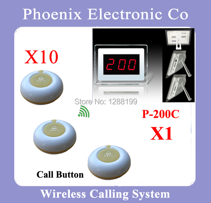 1 Set Wireless Call Calling System Waiter Server Paging Service System for Restaurant Pub Bar P-200CD-O1Y(China (Mainland))