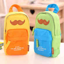 Creative Mustache Backpack Shape Canvas Pencil Bag Stationery Storage Organizer Case School Supply Student Prize(China (Mainland))