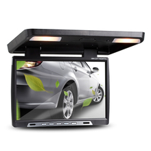 """Eonon 15.4"""" Car Roof Mounted Display Flip Down Monitor Built-in Double Dome LIght IR FM Ceiling LCD 180 Open Angle Screen(China (Mainland))"""