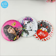 Custom your own logo tin pocket mirror/beautiful hand mirror/decorative gift mirror free shipping(China (Mainland))