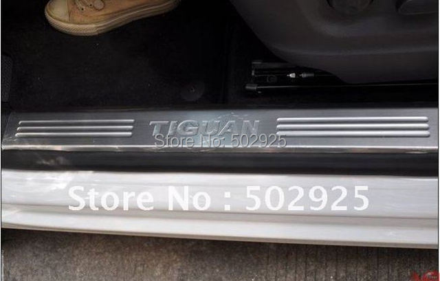 Free shipping inner Stainless Steel Scuff Plate  Door Sills threshold for Volkswagen VW European TIGUAN 2010-2015 4pcs