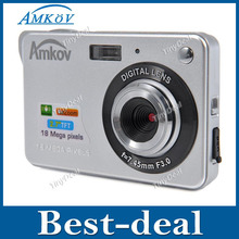 "AMKOV 800-C3 2.7"" TFT LCD Screen 16.0MP 720P 4X Digital Zoom DC Digital Camera Professional with SD Card Slot  CMOS Image Sensor(China (Mainland))"