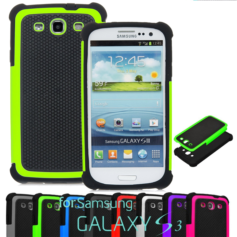 Samsung Galaxy S3 i9300 Case Silicone Rubber Plastic Armor Football Hard Back Cover Neo i9301 i9300i Duos - LZ International Trading Co., Ltd store