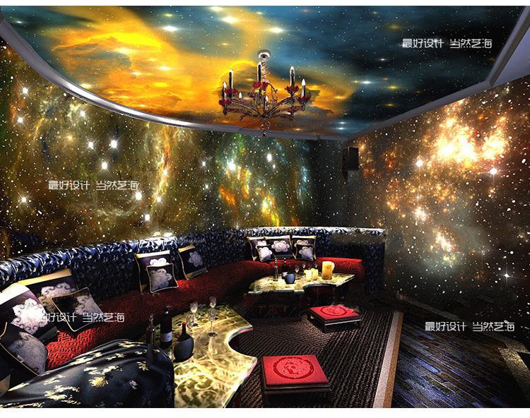 ... Verzending plafond universum Nebula Star Behang KTV 3D behang mural