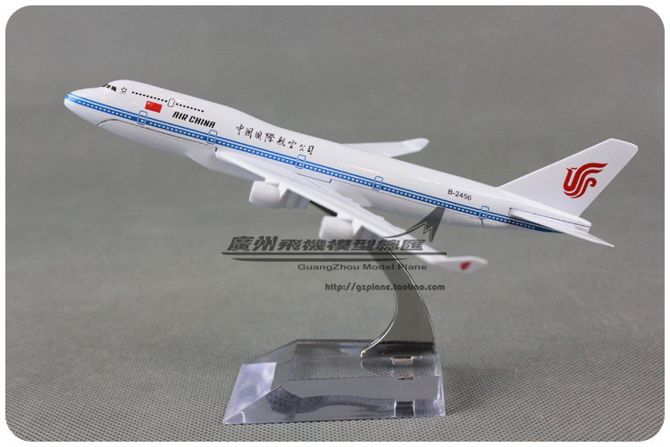 16cm 1:400 Air China Airlines Plane Model Boeing B747 400 B-2456 Alloy Metal Airplane Model Toy Gift Collections Free Shipping(China (Mainland))