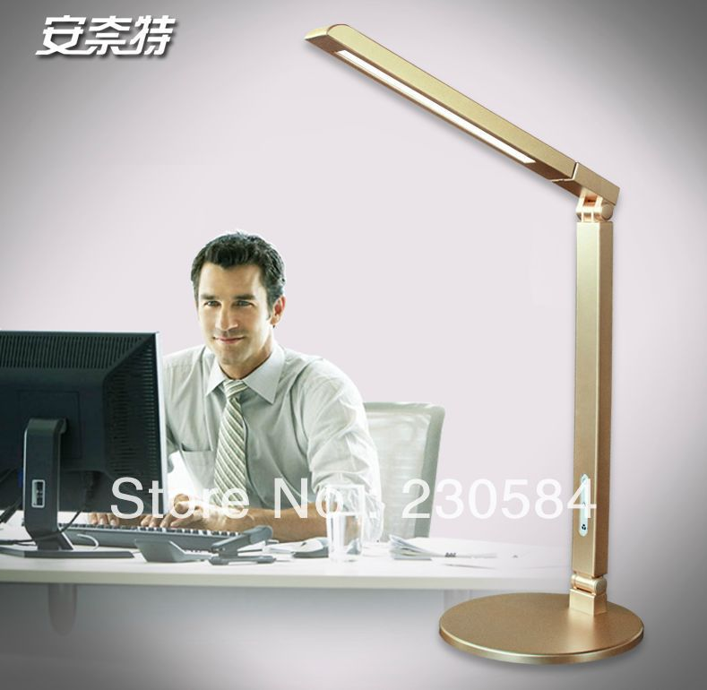 energy star five steps brightness and color temeprature adjustable dimmable and folding led table lamp with surface light(China (Mainland))