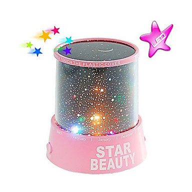 Starry Night Sky Projector Colorful LED Night Light AC/3xAA(China (Mainland))