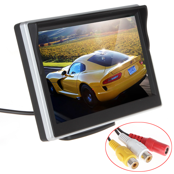 Brand New 5pcs/lot TFT LCD Digital Car Rear View Monitor Reverse Parking Monitor for Rearview Camera VCD/DVD/GPS Front Diaphragm(China (Mainland))