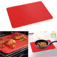 1 Piece Pyramid Pan Non-Stick  Silicone Baking Mat Mould Cooking Mat  Oven Baking Tray  40*28.5cm 96409