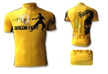 새로운 2014 브루스 리 의상 주년 기념 클래식 노란색 자전거 키트 자전거 짧은 소매 저지 사이즈 XS-4XL 마이 Ciclismo(China (Mainland))