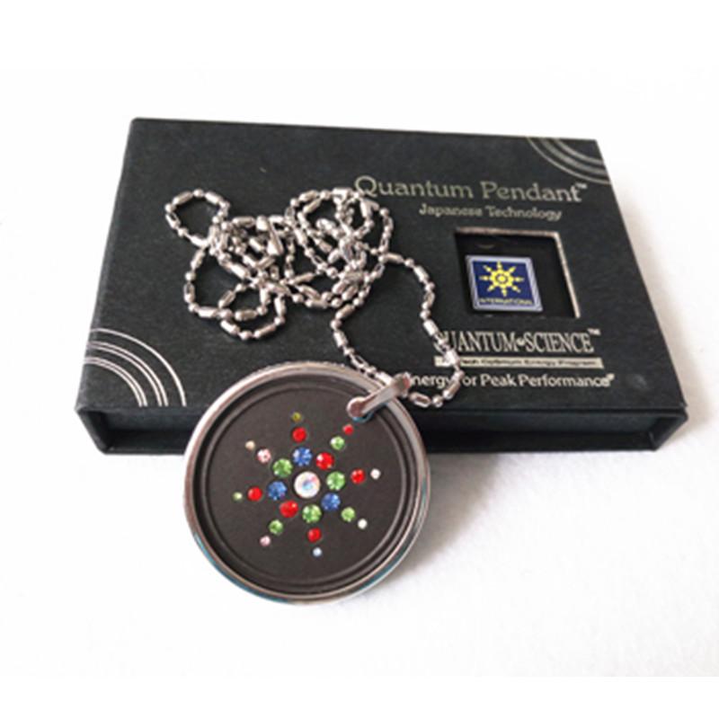 50pcs Fashion Jewelry Pendants with Quantum Scalar Energy Pendants Colorful CZ Diamond High Negative Ions Best Health Necklace(China (Mainland))