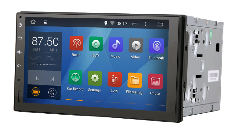 Pure android 4.4.4 Universal Car two din Console 2 Capacitive screen 1.6G CPU Dual Core 1G RAM Radio - Quick Krist's store