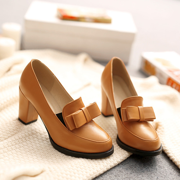 New arrive spring shoes women thick heel high heels oxford shoes for women tenis feminino fashion black shoes pumps plus size