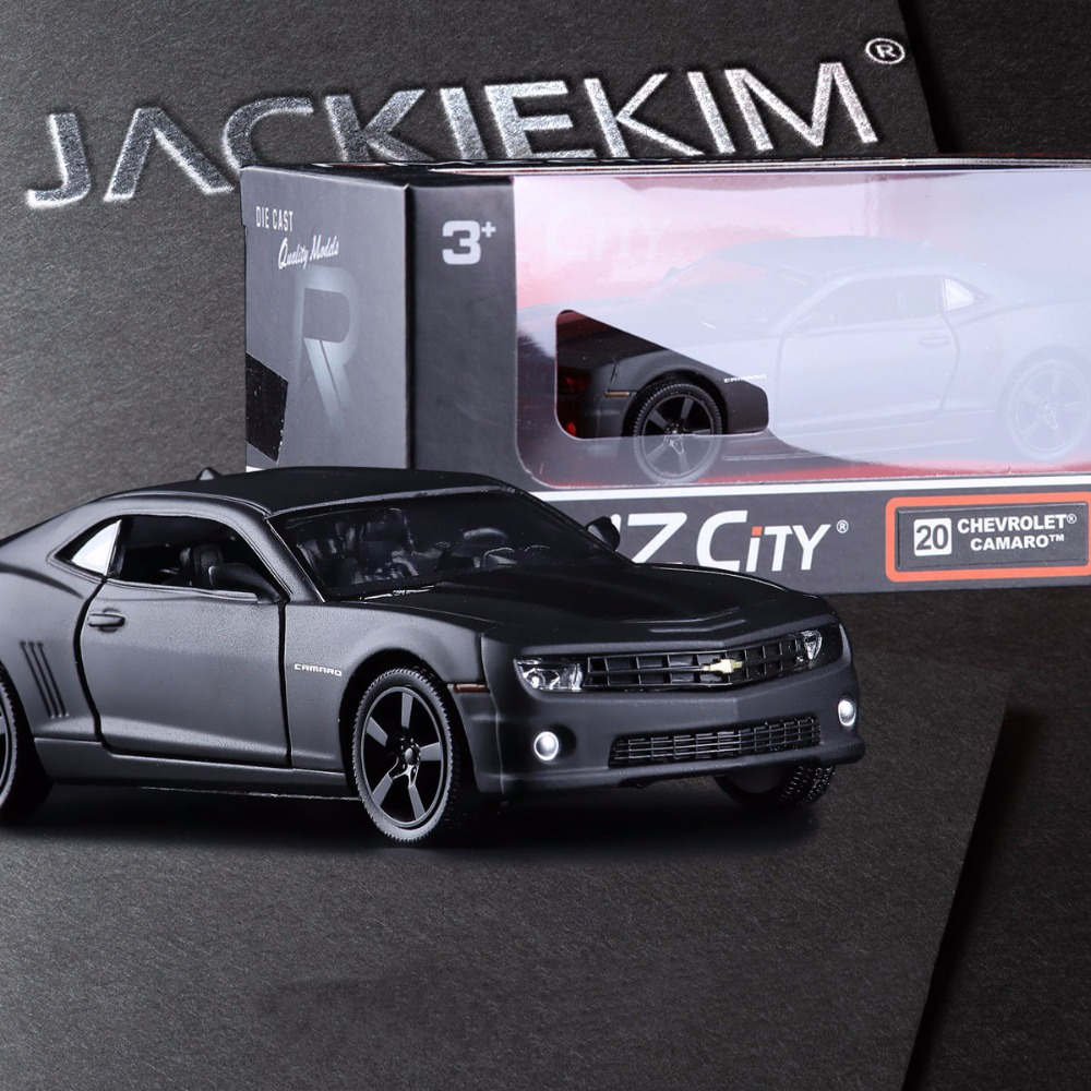 Original Box Chevrolet division camaro and double open the door back in alloy models children's toy car(China (Mainland))