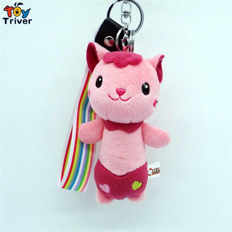 Triver Toy Fragrance cute cat doll mobile phone Automobile key chain pendant accessories plush toys wholesale gift(China (Mainland))