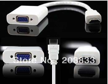 20pcs a lot HDMI To VGA Cable,HDMI To VGA Adapter,HDMI To VGA Converter FOR PC HDTV Projector 1080P