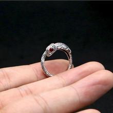 2016 Творческий милый маленький хамелеон ящерица хвост кольцом открытие 100% стерлингового серебра 925 ювелирные изделия для мужчин и женщин обручальное кольцо GR9(China (Mainland))