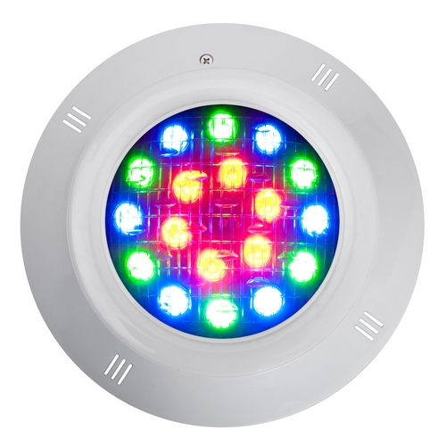 Fashion 12w Ac12v Ip68 Rgb Single Color Waterproof Wall Mounted Swimming Pool Light With Remote