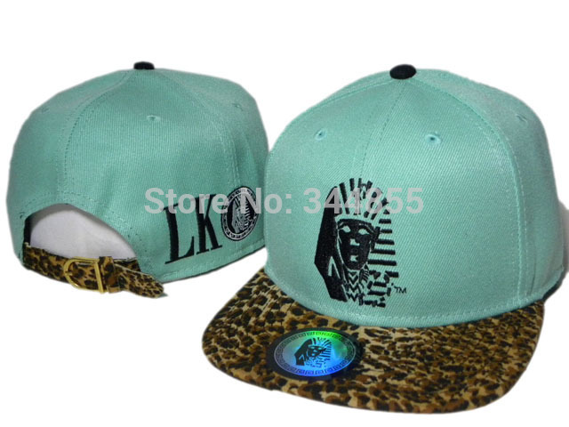 Classic Vintage Last Kings LK Baby Blue Strapback Hats Fashion Sport Hip Hop Adjustable Caps,Leopard Casual Hats Free Delivery(China (Mainland))