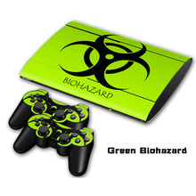 All kinds of colors styles Non-slip Waterproof Protective Host Stickers Case 2pcs Controller Stickers Skins for  PS3