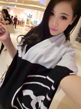 Classic cashmere scarves ladies fashion shawl large warm shawl thick double-sided scarf free