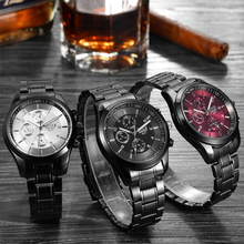 BOSCK 8251 Watches Luxury Brand Full Steel Wrist watches Quartz Sport relogio masculino
