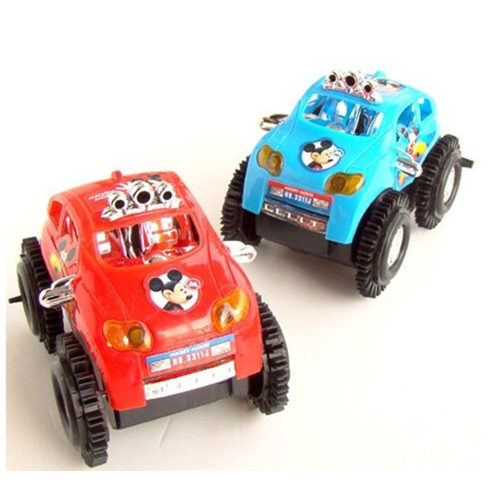 2016 Newest Children Mini Mickey skip Flip Electric Toy Rc Car Four-Wheeler Vehicle Toys For Children(China (Mainland))