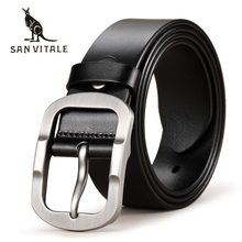 Buy SAN VITALE Cowhide Genuine Leather Mens Belts Men Brand Strap Male Pin Buckle Fancy Vintage Cowboy Jeans Cintos Freeshipping for $9.54 in AliExpress store