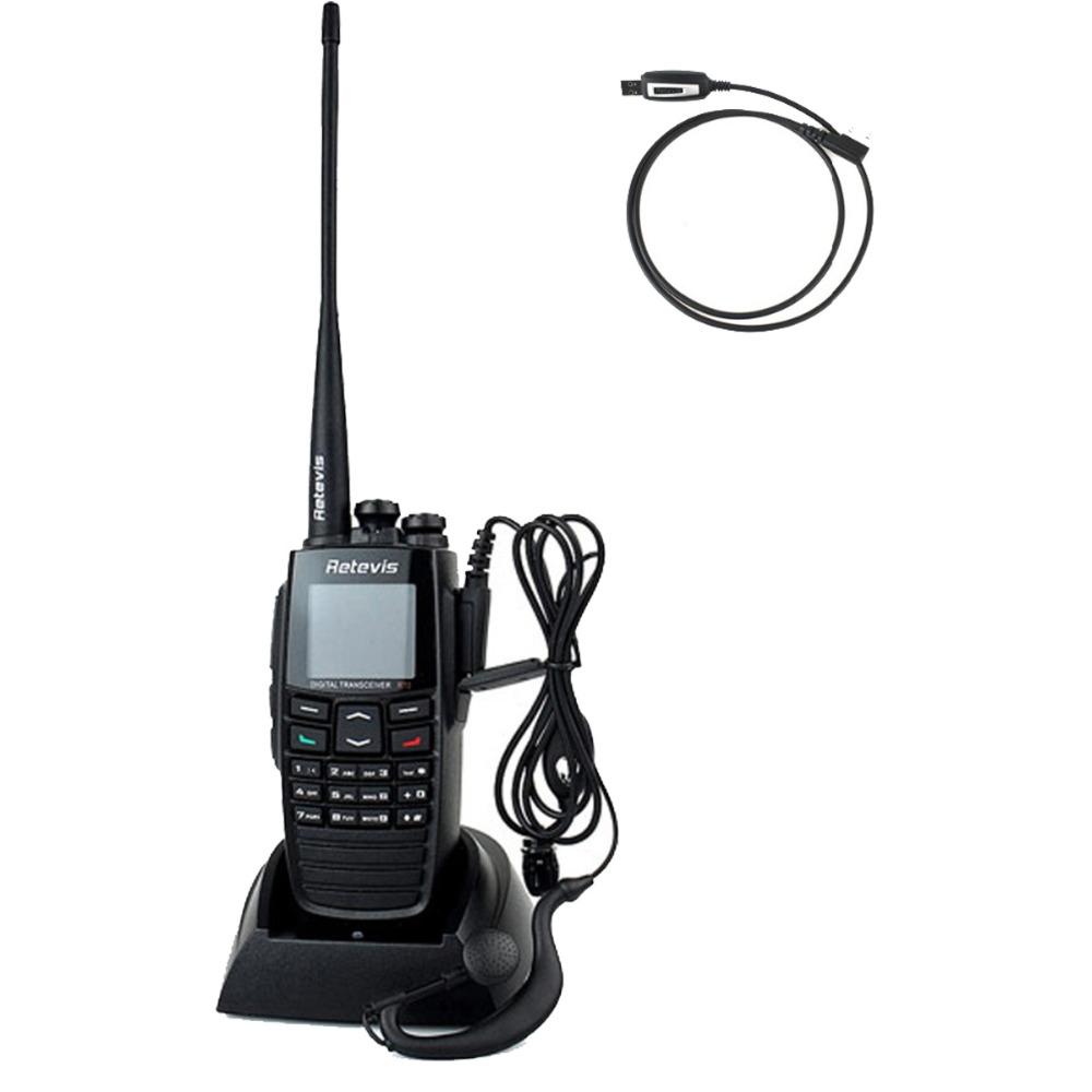 Retevis RT2 DPMR Walkie Talkie VHF+UHF 136-174+400-470MHz 5W 256CH Ham Radio Hf Transceiver VOX Digital Walkie Talkie A9107A(China (Mainland))
