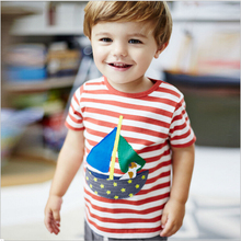 New Brand Baby Boys Clothing 100% Cotton Summer O-neck Toddler Kids Clothes Short Sleeve Stripe Tops Tee T-Shirt t shirt