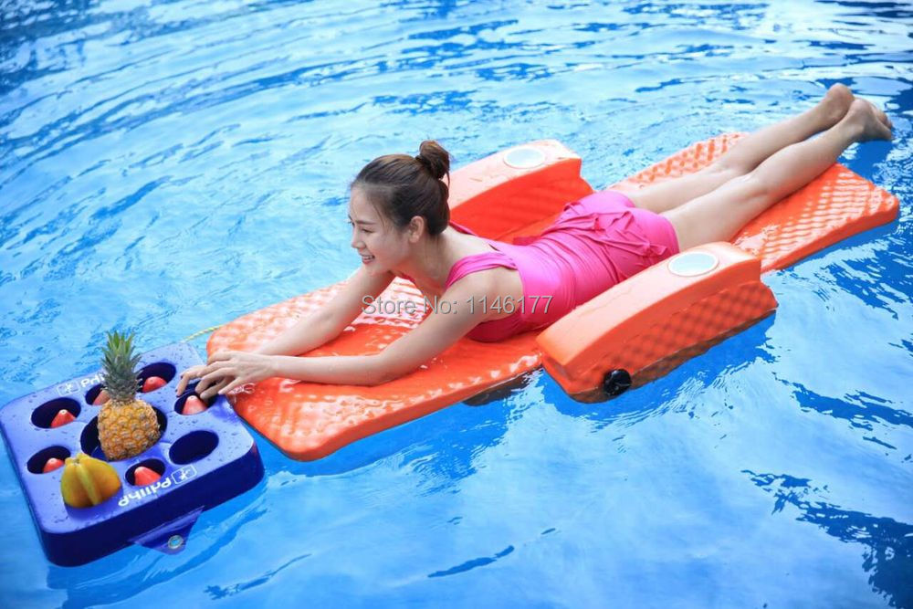 Swimming Pink Bean Bag Bed Water fun outdoor hot spring water aqua loungers folding bed recliner chair factory(China (Mainland))